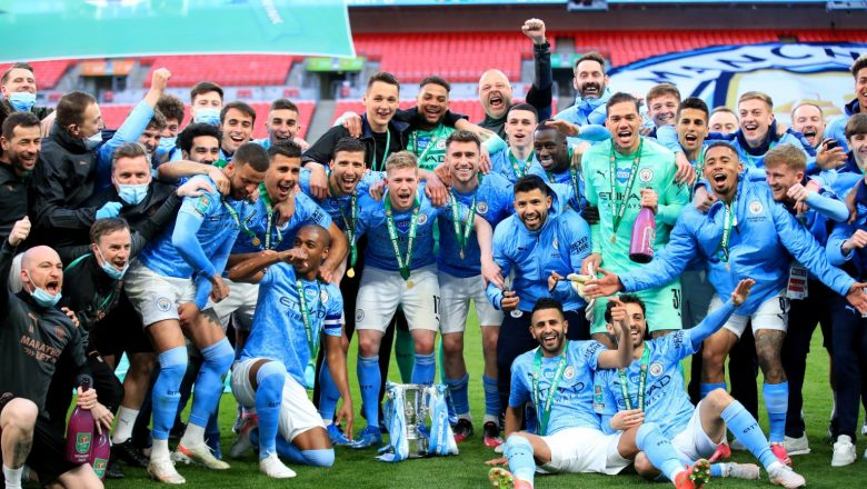 Manchester City claim record-equaling fourth straight League Cup